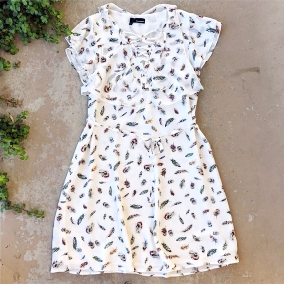 841f6e49ff8 The Kooples Dresses | X White Feather Flutter Laceup Dress | Poshmark